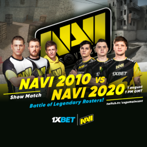 Markeloff vs S1mple: NAVI and 1xBet are about to bring us the clash of Counter-Strike titans!