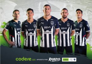 Codere to appear on the shirt of the Club de Futbol Monterrey Rayados of Mexico