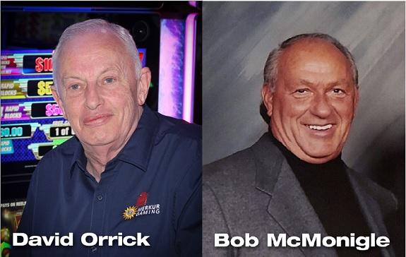 "Robert ""Bob"" McMonigle, David Orrick Honored as Recipients of Association of Gaming Equipment Manufacturers (AGEM) Memorial Awards Honoring Jens Halle And Peter Mead"