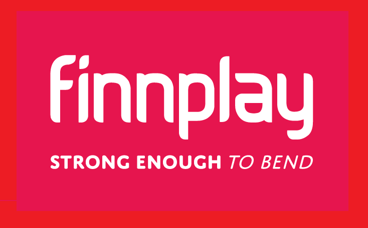 Boîte à slogan avec logo Finnplay 1 1